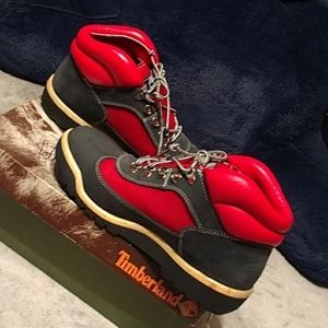 Authentic Timberland Men's field BT L/F navy w/red